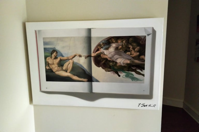 The Creation of Adam -- Original Oil Painting -- Please watch attached video - Gray Still-Life Painting by J. Scott Nicol
