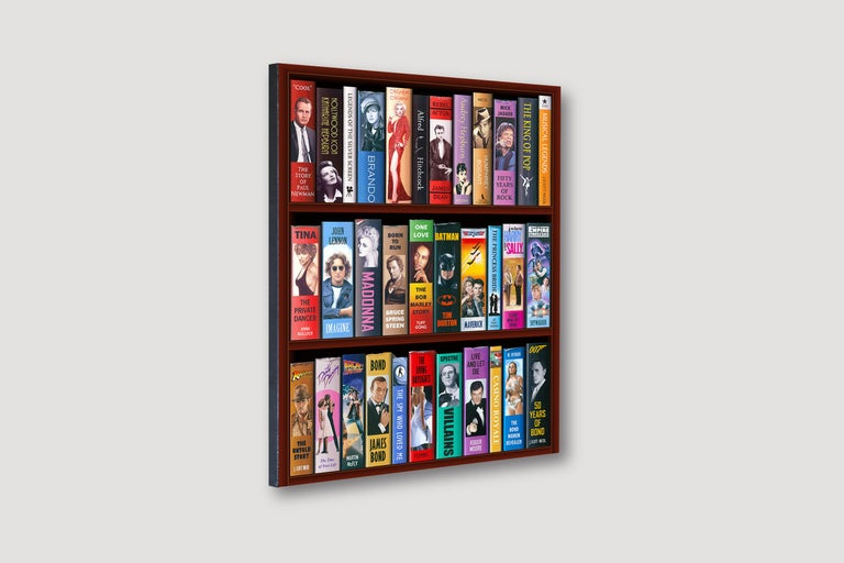50 Years of Bond Bookcase 2/150 Giclee -- Please see video - Print by J. Scott Nicol