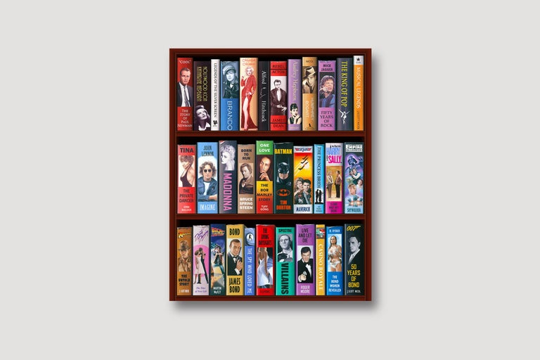 50 Years of Bond Bookcase 2/150 Giclee -- Please see video - Photorealist Print by J. Scott Nicol