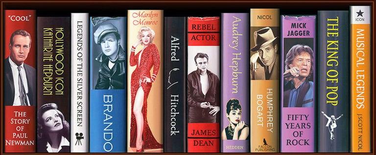 50 Years of Bond Bookcase 2/150 Giclee -- Please see video - Black Interior Print by J. Scott Nicol