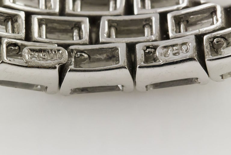 Women's J. Stella Baguette Cut Diamond Platinum Flexible Band Ring For Sale