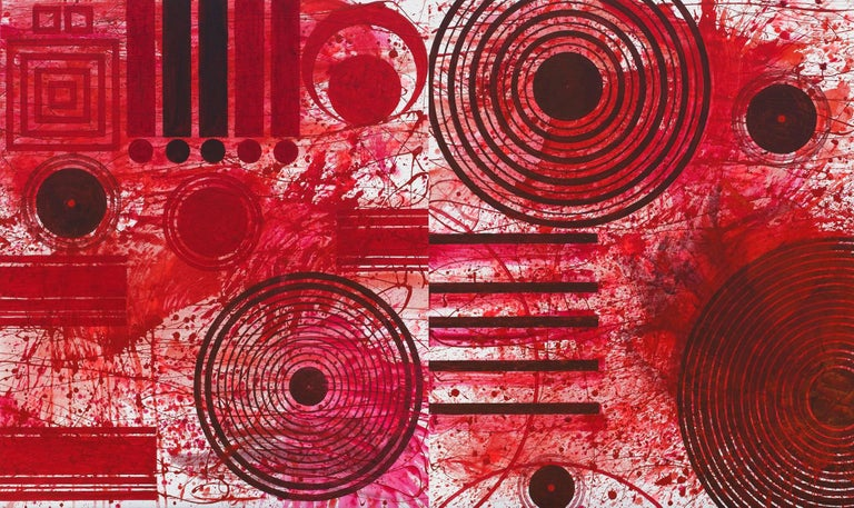 REDWORLD (Red, Abstract Expressionist Painting)