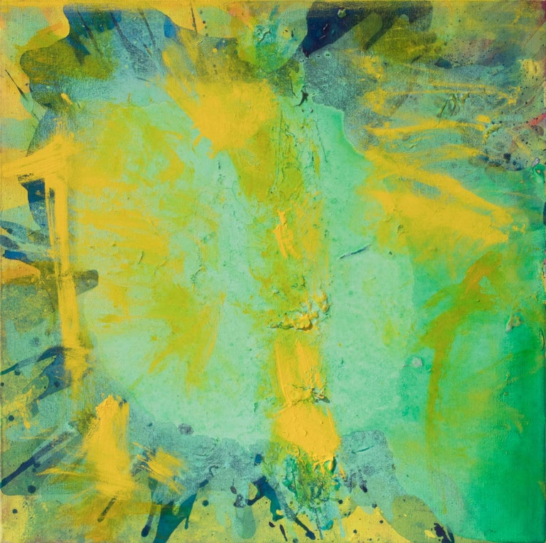 Universe (Green, Yellow, Abstract Expressionist Painting)