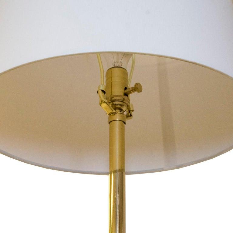 Post-Modern J T Kalmar Att. Brass Floor Lamp For Sale