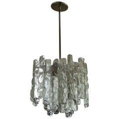J. T. Kalmar Glass Block Chandelier or Pendant