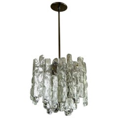 J. T. Kalmar Glass Block Chandelier or Pendant