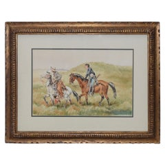 "J. Thomas Soltesz ""The Couriers"" Original Watercolor"
