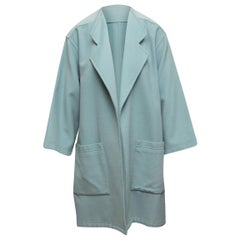 J. Tiktiner Light Blue Wool Coat