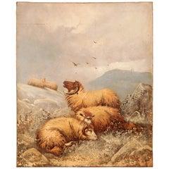 J. W. Morris Sheep Painting