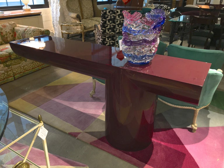 J. Wade Beam Cantilevered Console Table For Sale 4