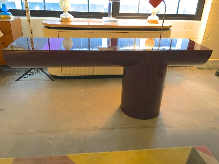 J. Wade Beam Cantilevered Console Table For Sale 8
