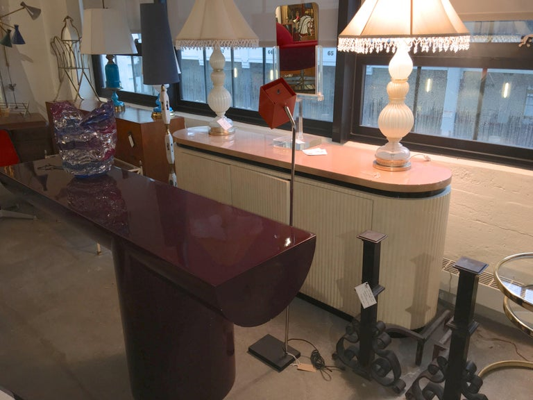 J. Wade Beam Cantilevered Console Table For Sale 9