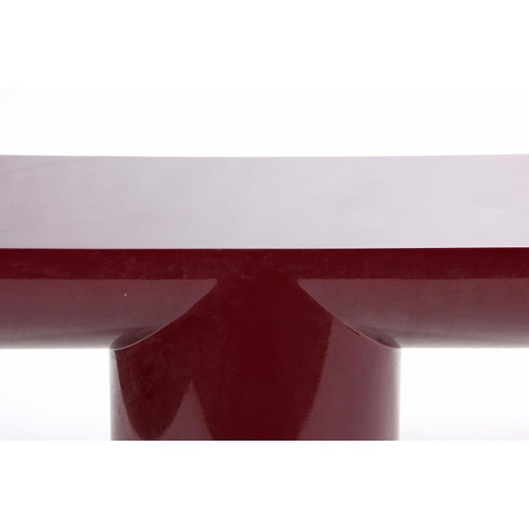 Late 20th Century J. Wade Beam Cantilevered Console Table For Sale