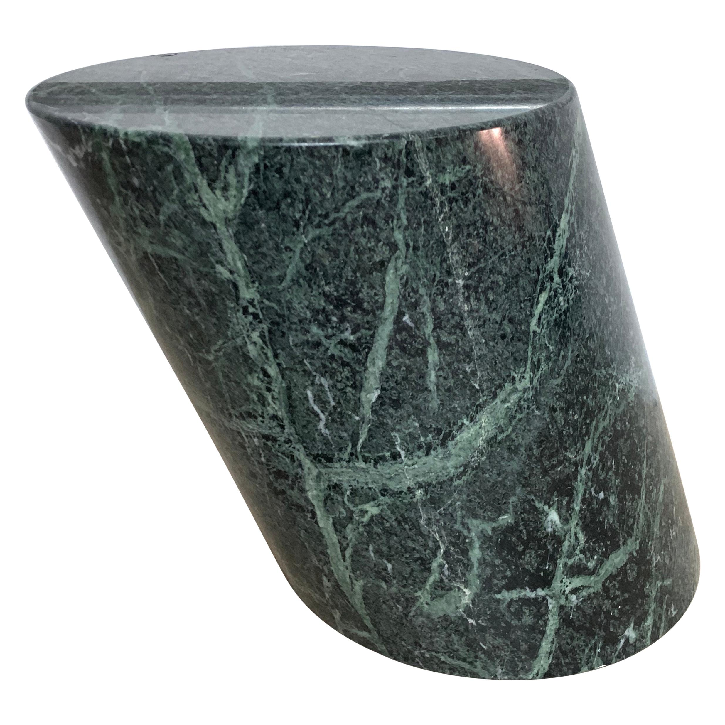 J Wade Beam Green Marble Zephyr Side or End Occasional Drinks Table for Brueton