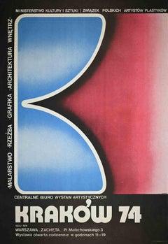 Krakow 74 - Vintage Poster by J. Wysocki - 1974