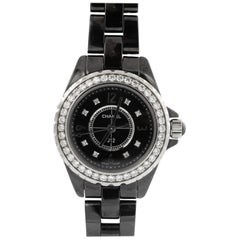 J12 Chanel Black Highly Resistant Ceramic and Steel Watch