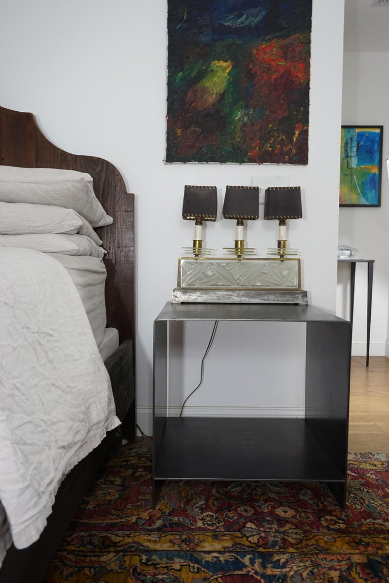 J2 Blackened Steel Side Table by Edelman New York In New Condition For Sale In New York, NY