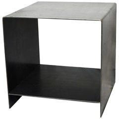 J2 Blackened Steel Side Table by Edelman New York