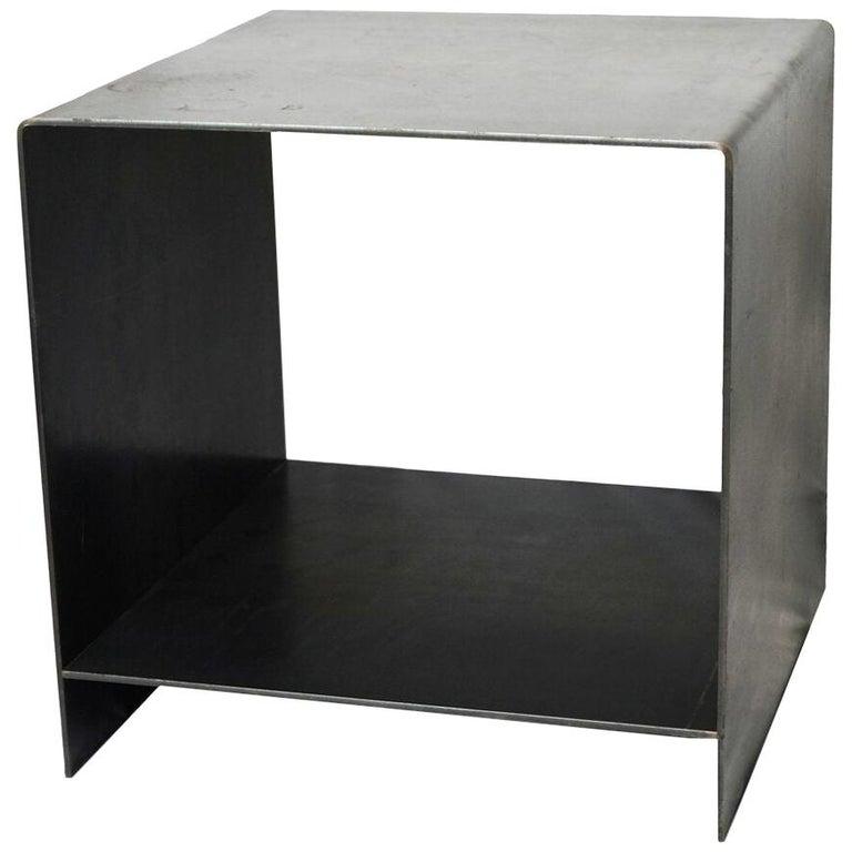 J2 Blackened Steel Side Table by Edelman New York For Sale