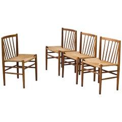 J80 Dining Chairs by Jørgen Baekmark for FDB Møbler, Denmark, 1950s, Set of Four