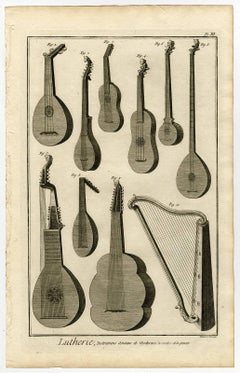 Lutherie, Instrumens anciens, et modernes, a cordes et a pincer.