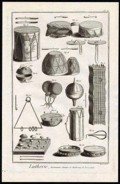 Lutherie, Instruments anciens, et modernes, de Percussion.