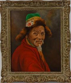 J.A. Hulbert (1900-1979) - Framed Oil, Sherpa Merchant (Gangtok)