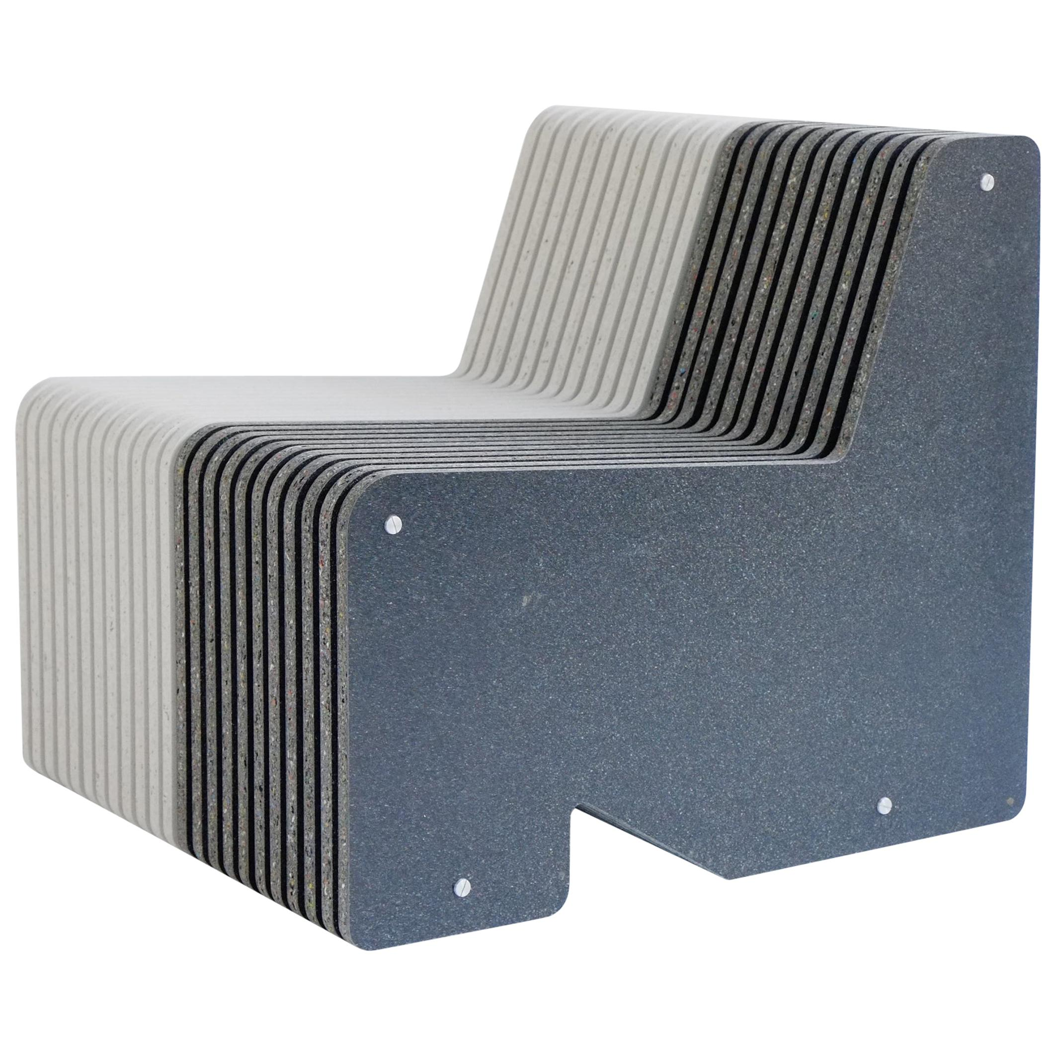 Jää Armchair Made with 100% Recycled Plastic