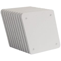 White Jää Cube Occasional Side Table
