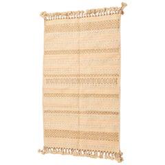 JAALI Handloom Wool Indian Rug in Soft Earthy Pastel Tones