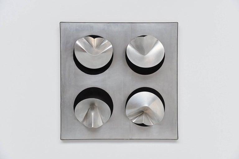 Mid-Century Modern Jaap van Hunen Geometric Aluminium Artwork, Holland, 1970 For Sale