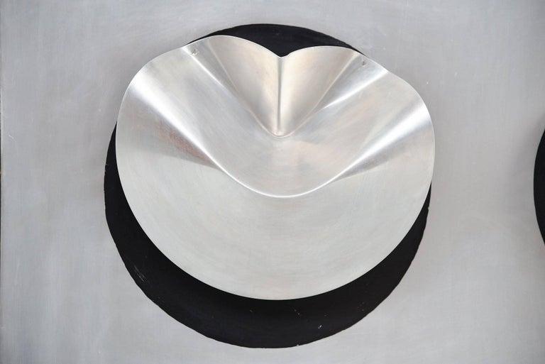 Dutch Jaap van Hunen Geometric Aluminium Artwork, Holland, 1970 For Sale