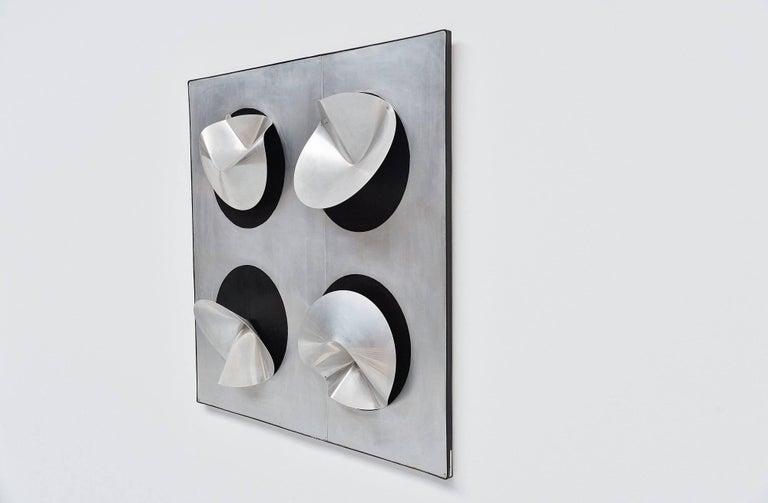 Jaap van Hunen Geometric Aluminium Artwork, Holland, 1970 In Excellent Condition For Sale In Roosendaal, Noord Brabant