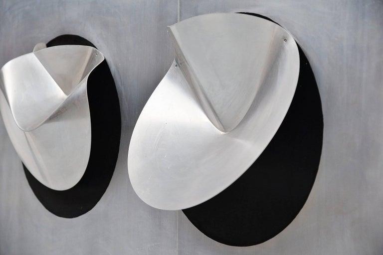 Late 20th Century Jaap van Hunen Geometric Aluminium Artwork, Holland, 1970 For Sale