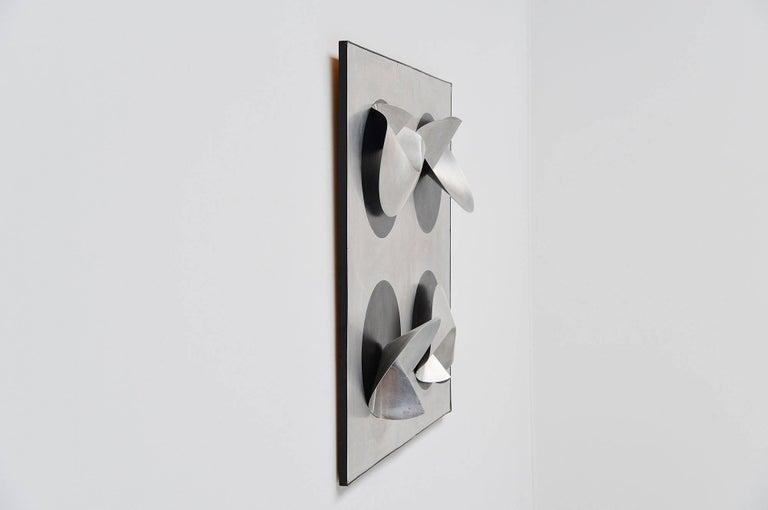 Aluminum Jaap van Hunen Geometric Aluminium Artwork, Holland, 1970 For Sale