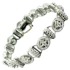Jabel 18 Karat White Gold and Diamond Bracelet