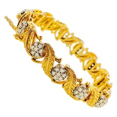 Jabel 18 Karat Yellow Gold and Diamond Add A Section Bracelet