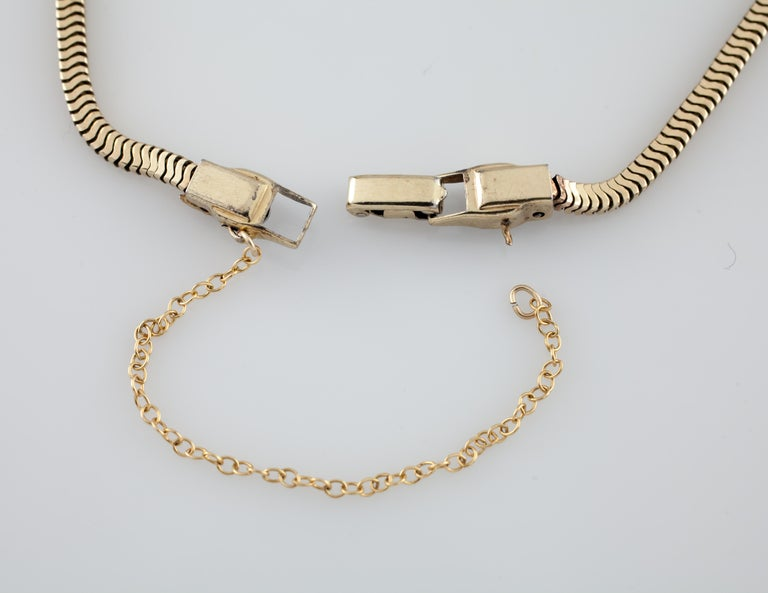 Jabel Add-A-Link Diamond 5 Link and Snake Chain 18 Karat Yellow Gold Bracelet For Sale 2