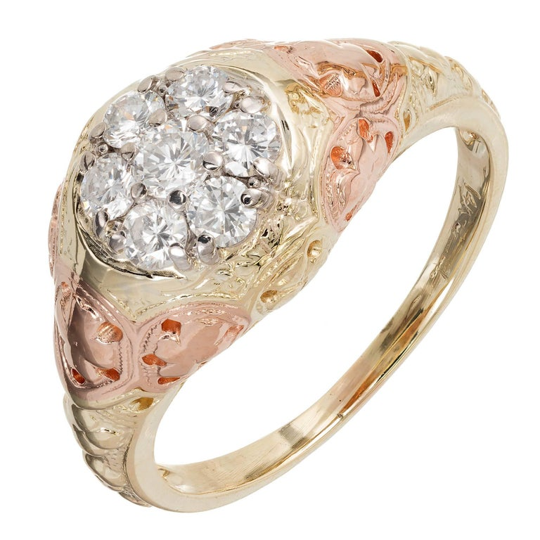 Jabel  Seven Diamond Gold Engagement Ring