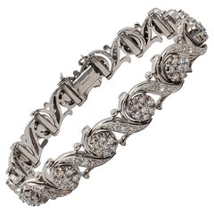 Jabel White Diamond Bracelet in 18 Karat White Gold