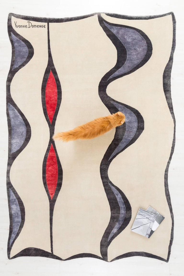 This is a Limited Edition rug made of premium New Zealand wool and silk.   Established in 1921, Odabashian is a creative conduit for artists, designers, architects and creatives to learn, explore and create using traditional handmade rugmaking