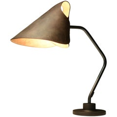 Jacco Maris Mrs.Q Table Lamp in Coated Steel Body with Cognac Shade
