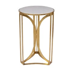 Jack Accent Table in Gold Leaf by CuratedKravet