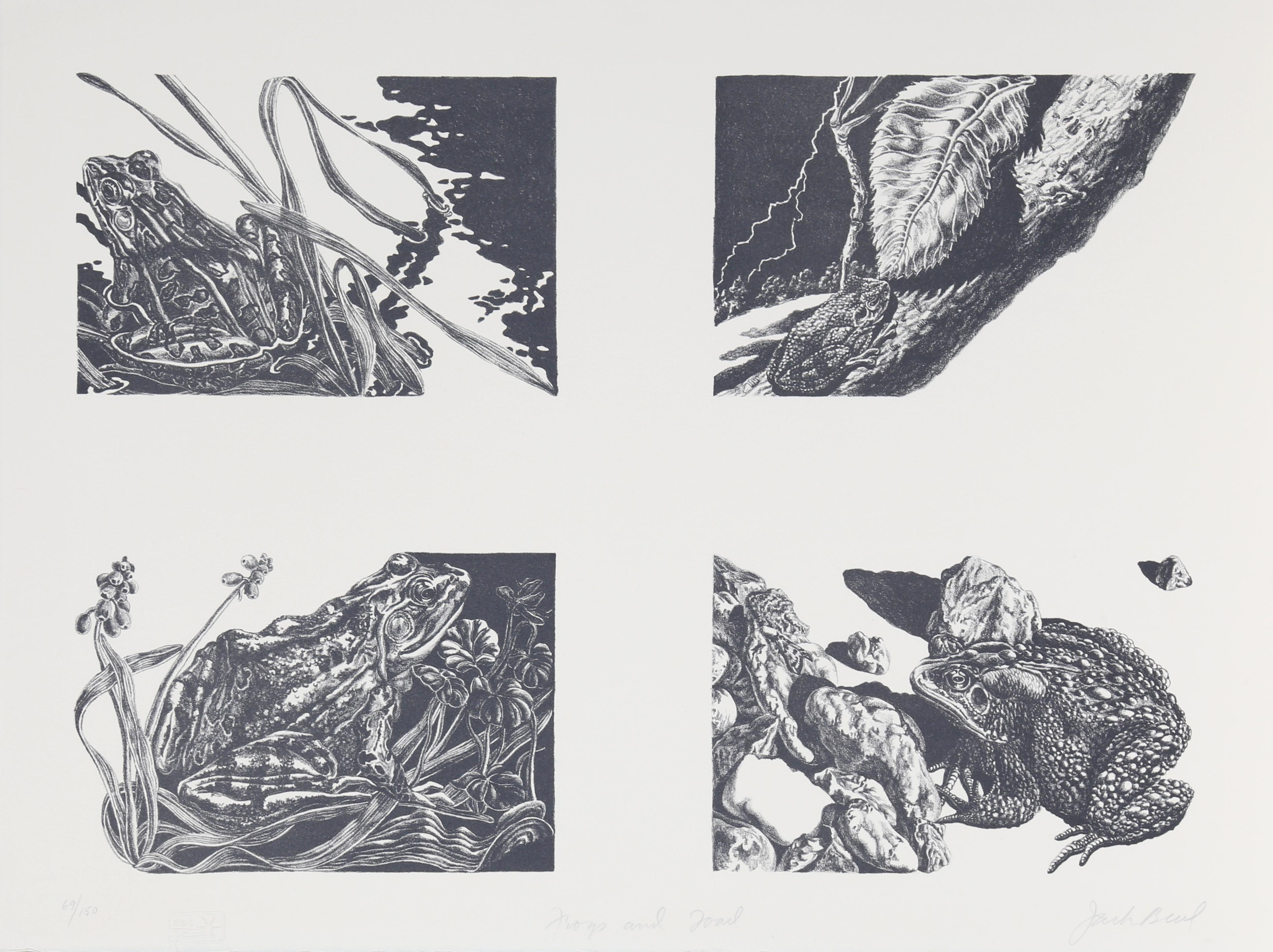 Frogs and Toads, Lithograph by Jack Beal