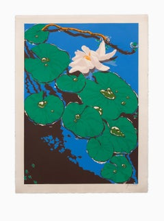 """""""Pond Lilies"""", Color Lithograph Pencil Signed and Numbered (42/120)"""