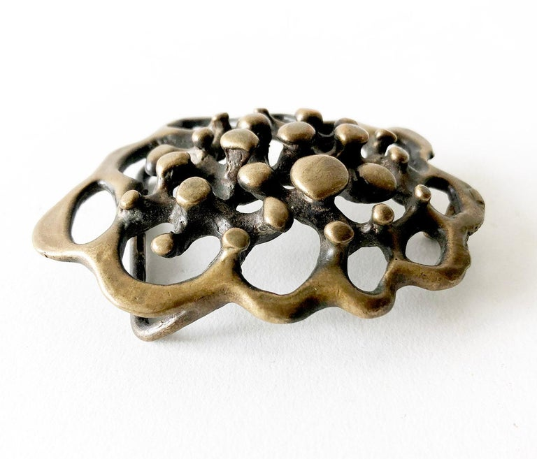 Hand forged, large scale spore belt buckle created by Jack Boyd of San Diego, California.  Buckle measures 3