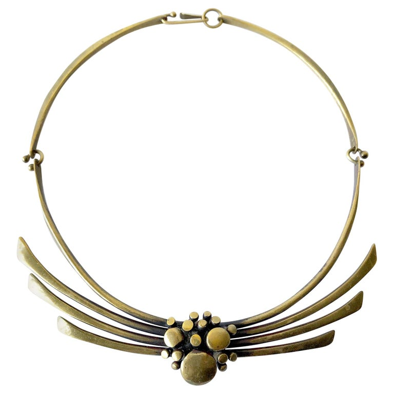 Jack Boyd Bronze San Diego Modernist Spray Necklace For Sale