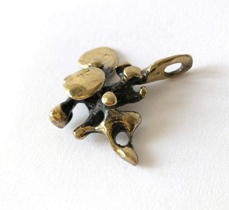 Artisan Jack Boyd San Diego Modernist Bronze Spore Pendant For Sale