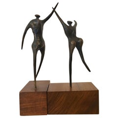 Jack Boyd Small Bronze Sculpture Figures, 20th Century