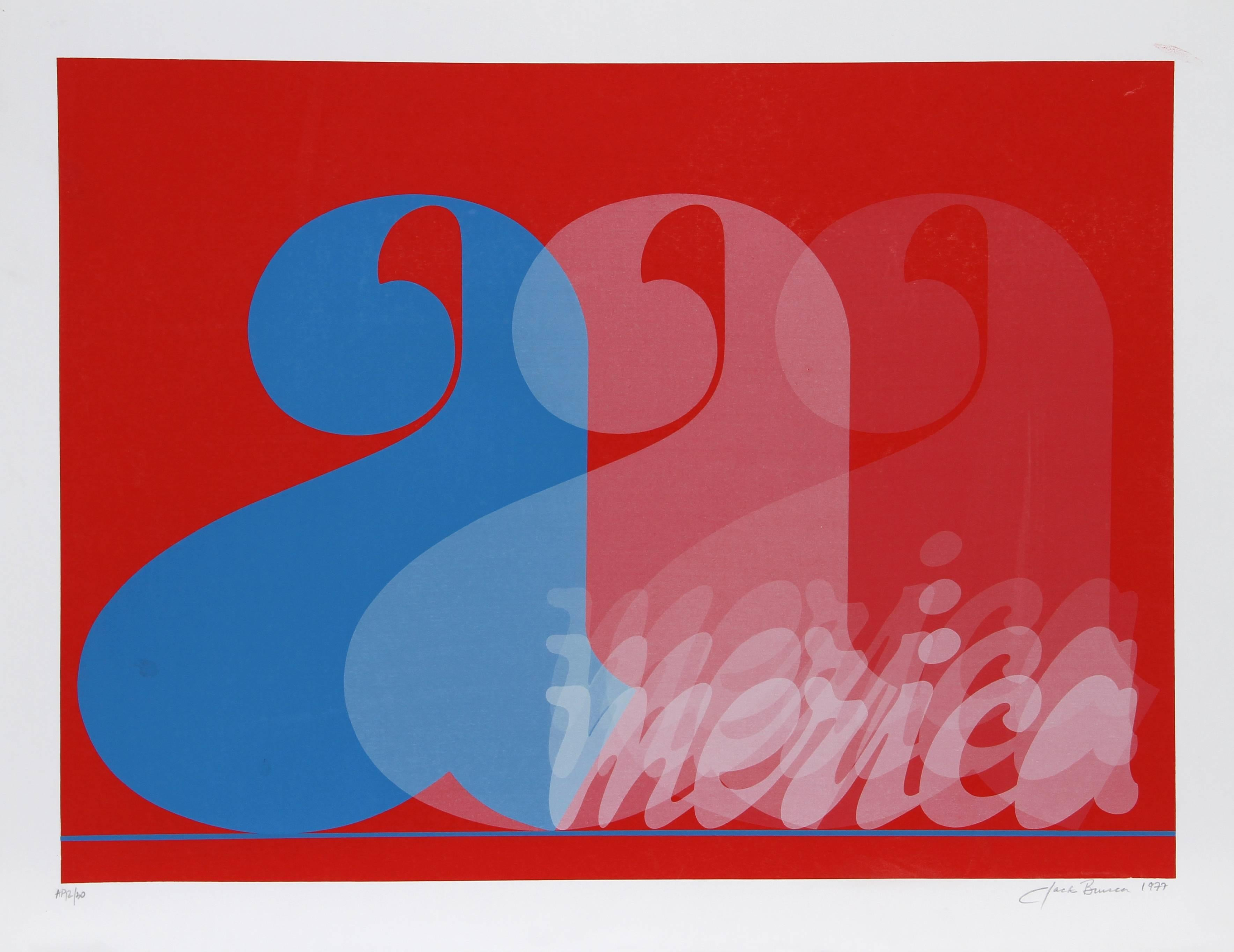 America, Pop Art Silkscreen by Jack Brusca